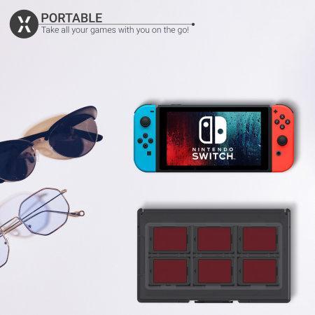 Olixar 12-in-1 Portable Nintendo Switch Game Cards Case - Black