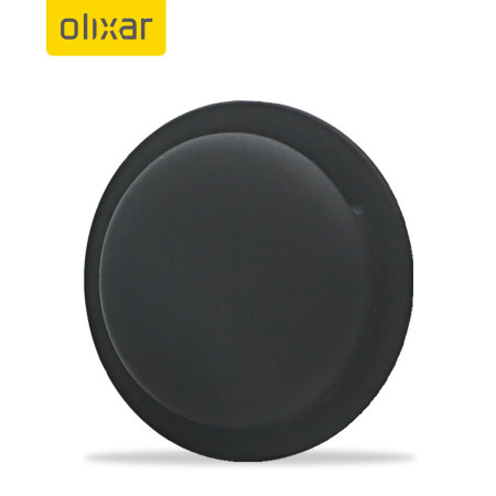 Olixar Apple Airtags Adhesive Silicone Pocket 4 Pack - Black