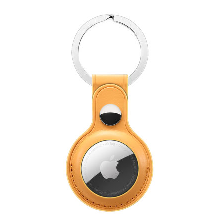 Olixar Leather-Style Protective Skin For Apple AirTags - Tan