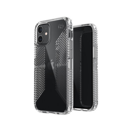 Speck iPhone 12 Presidio Perfect-Clear Grip Case - Clear