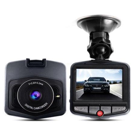 Aquarius 720p HD Wide-Angled Motion Sensitive DVR Car Dash Cam - Grey