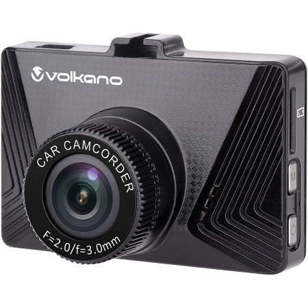 Volkano Suburbia Series VK-10007-BK 720P Car Dash Camera - Black