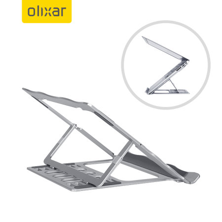 Olixar Adjustable MacBook Stand Mount With Ventilation - Silver