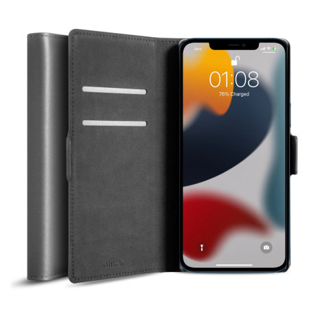 Olixar Genuine Leather iPhone 13 Wallet Case
